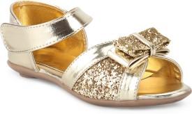 Stepee Girls Sling Back Flats(Gold)