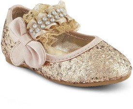 Kittens Girls Slip-on Ballerinas(Gold)