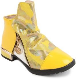N Five Girls Buckle Flats(Yellow)