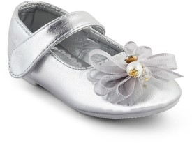 Kittens Girls Slip-on Ballerinas(Silver)