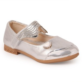 N Five Girls Buckle Flats(Silver)