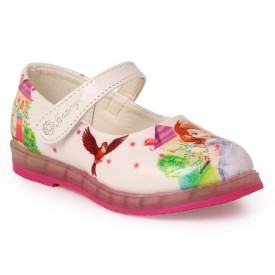 N Five Girls Buckle Flats(White)