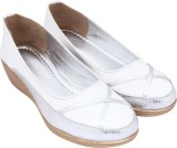 Lily Girls Slip-on Wedges (White)