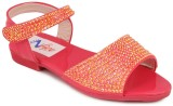 N Five Girls Buckle Flats (Orange)