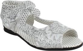 Foot Frick Girls Sling Back Peep Toes(White)