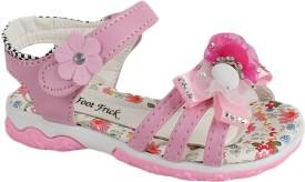 Foot Frick Girls Sling Back Strappy Sandals(Pink)