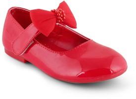 Kittens Girls Slip-on Ballerinas(Red)