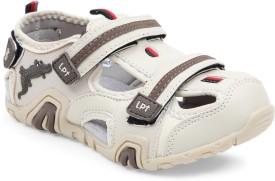 Lilliput Boys Sling Back Strappy Sandals(Beige)