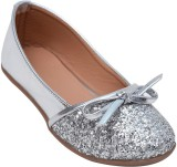Glitzy Galz Girls Slip-on Flats (Silver)