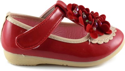Parv Collections Girls Red Ballerinas(Pack of1)