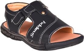 Snappy Boys Sling Back T-bar Sandals(Black)