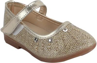 Foot frick Baby Girls Gold Ballerinas