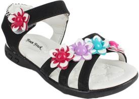 Foot Frick Girls Sling Back Strappy Sandals(Black)