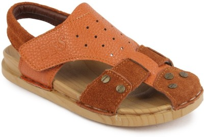 N Five Boys & Girls Buckle Strappy Sandals(Brown)