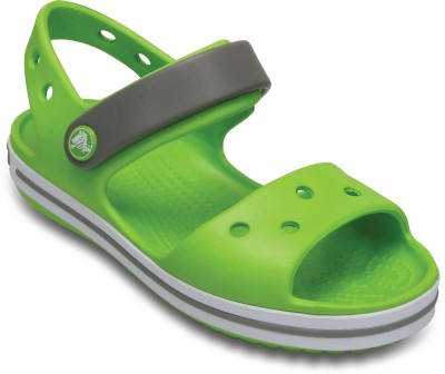 Crocs Boys & Girls Sling Back Clogs(Green)