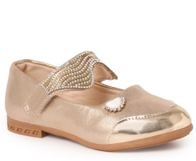N Five Girls Buckle Flats(Gold)