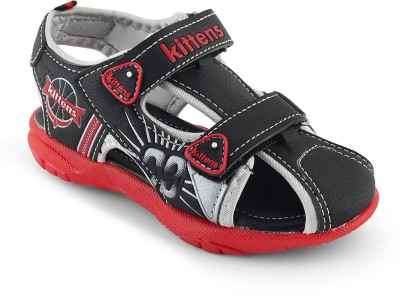 KITTENS Boys Black Sports Sandals(Pack of1)