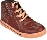 Trilokani Boys Lace Sneakers (Brown)