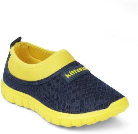 Kittens Boys Slip on Running Shoes(Yellow)