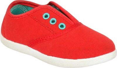 Myau Boys & Girls Slip on Espadrilles(Red)