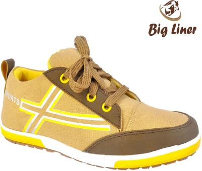 Big Liner Boys Yellow Sneakers(Pack of 1)