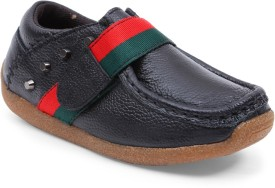 Lilliput Boys Velcro Loafers(Black)