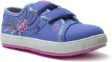 Phedarus Girls Velcro Sneakers (Blue)