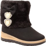 Foot Candy Girls Slip on Casual Boots (B...