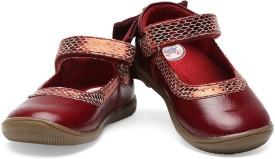 Teddy Toes Girls Velcro Dancing Shoes(Red)