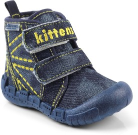 Kittens Boys Velcro Clogs(Dark Blue)