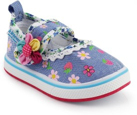 Kittens Girls Velcro Clogs(Dark Blue)