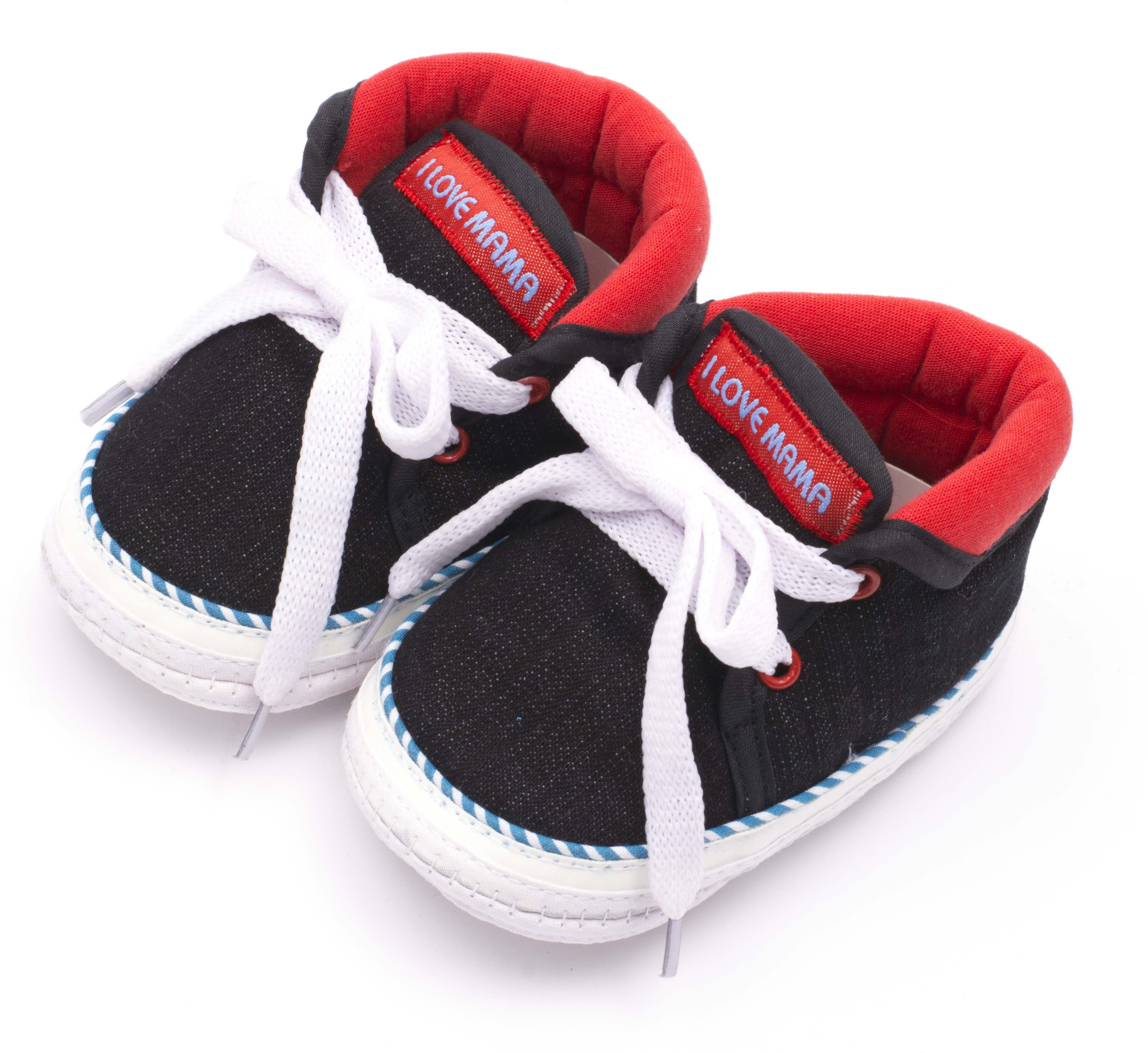 Infano Boys & Girls Black Sneakers(Pack of 1)