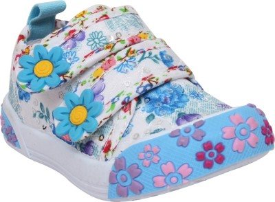 Doink Girls Velcro Casual Boots(Blue)