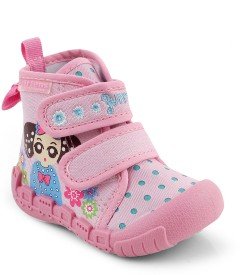Kittens Girls Velcro Casual Boots(Pink)