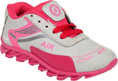Bunnies Girls Lace Running Shoes(Pink)
