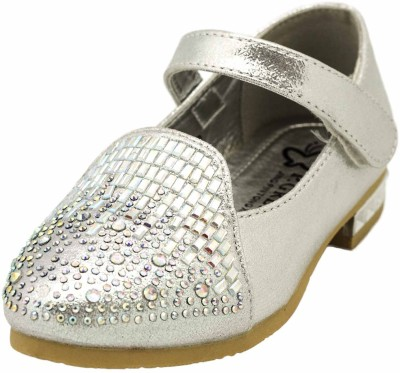 Yellow Bee Girls Velcro Jutis(Silver)