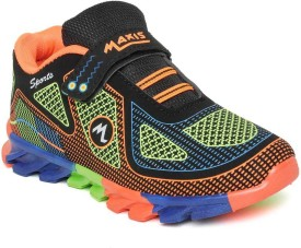 Maxis Boys Lace Running Shoes(Orange)