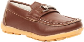 Foot Candy Boys Slip on Loafers(Brown)