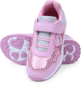 Lilliput Girls Velcro Sneakers(Pink)