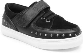 Lilliput Boys & Girls Velcro Sneakers(Black)