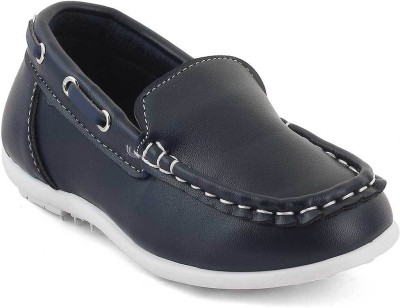 Kittens Boys Slip on Loafers(Dark Blue)