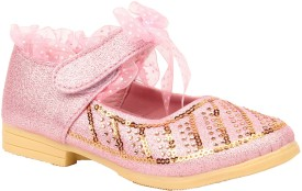 Foot Candy Girls Velcro Dancing Shoes(Pink)