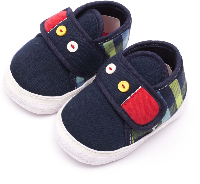 Infano Boys & Girls Velcro Sneakers(Blue)