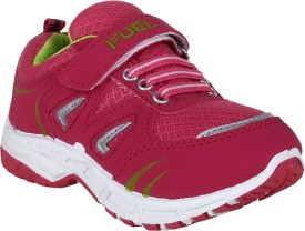 Fuel Boys & Girls Velcro Running Shoes(Pink)