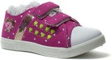 Phedarus Girls Velcro Sneakers (Pink)