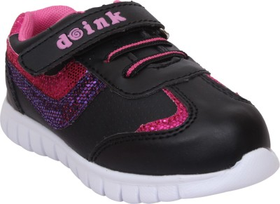 Doink Girls Velcro Casual Boots(Black)
