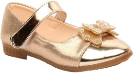 Foot Candy Girls Velcro Dancing Shoes(Gold)