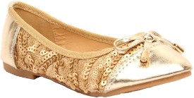 Foot Candy Girls Slip on Dancing Shoes(Gold)