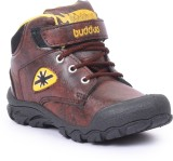 Buddies Boys Lace Running Shoes (Brown)