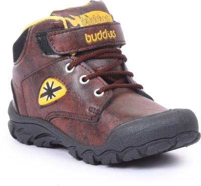 BUDDIES Boys Brown Running Shoes